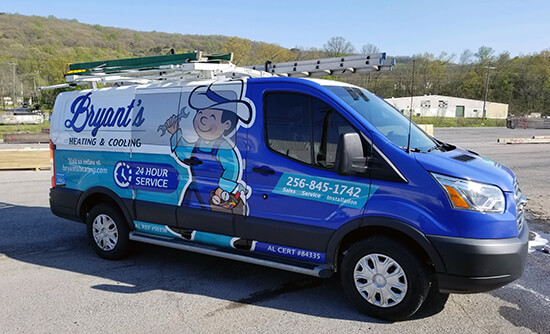 Bryant's Heating and Cooling Van